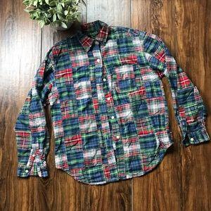 Petite Ralph Lauren Patchwork plaid buttonup shirt